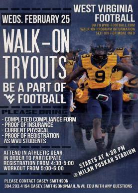 2015 Walk-on Try Outs